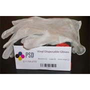 PSD Vinyl Disposable Gloves, 100/Box