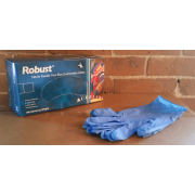 ROBUST BLUE NITRILE GLOVES, XL, 10 Boxes/Case (100/Box)