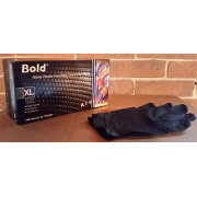 BOLD BLACK NITRILE GLOVES, XL, 100/Box