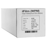 17 x 100' Matte Waterproof Inkjet Film, 4mil, 1 Roll