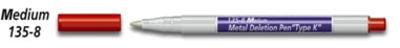 Nikken Metal Plate Deletion Pen, Type K - Medium