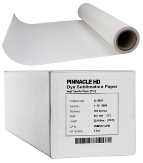 "44"" x 328' Pinnacle Dye Sublimation Paper, 105 gsm, 1 Roll"