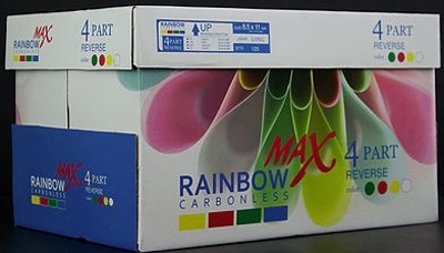 8.5 X 14 Rainbow Max Carbonless Paper, 4 part, 5000 Sheets