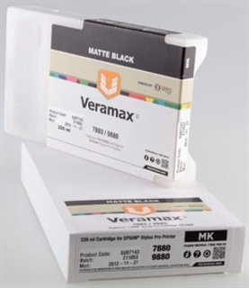 Veramax Matte Black Ink Cartridge - 220 ml - 7880/9880